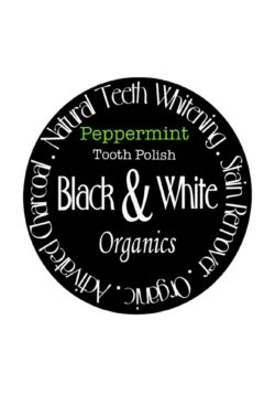Peppermint flavour teeth whitening powder